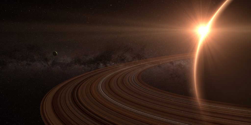 Planet Saturn with Rings